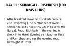 day 11 srinagar rishikesh 100 kms 6 hrs