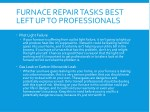 furnace repair tasks best left up to professionals