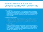 how to maintain your air quality during winter 1