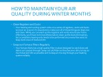how to maintain your air quality during winter