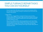 simple furnace repair tasks you can do yourself 1