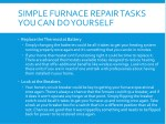 simple furnace repair tasks you can do yourself