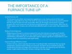 the importance of a furnace tune up