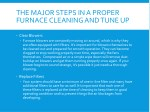 the major steps in a proper furnace cleaning 1