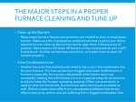 the major steps in a proper furnace cleaning