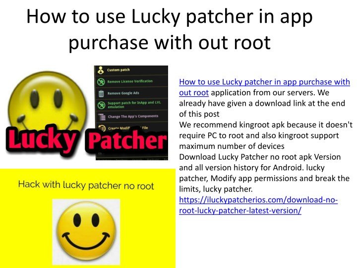 how to use lucky patcher in app purchase with n.