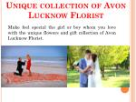 unique collection of avon lucknow florist