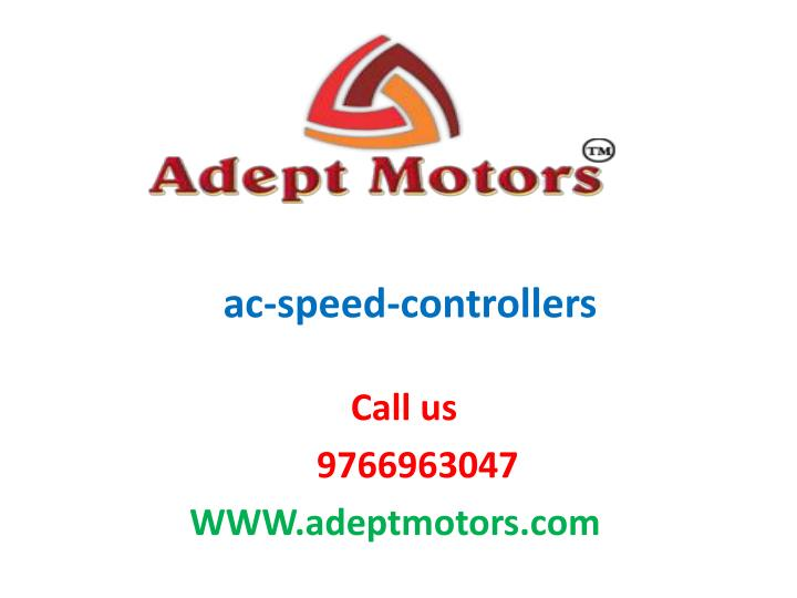 ac speed controllers n.