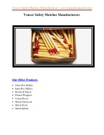 veneer safety matches manufacturers 2