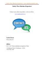 safety wax matches exporters www rajashreematch 2