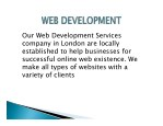 our web development services company in london