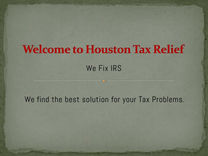 welcome to houston tax relief n.