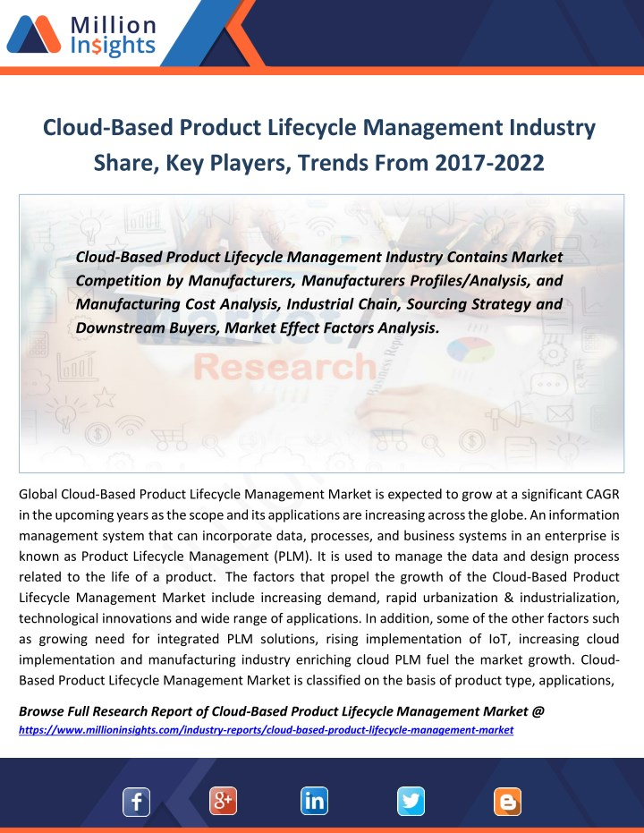 cloud based product lifecycle management industry n.