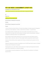 psy 530 week 2 assignment latest gcu