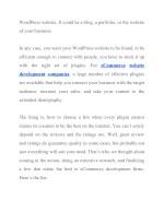 wordpress website it could be a blog a portfolio