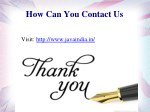 how can you contact us