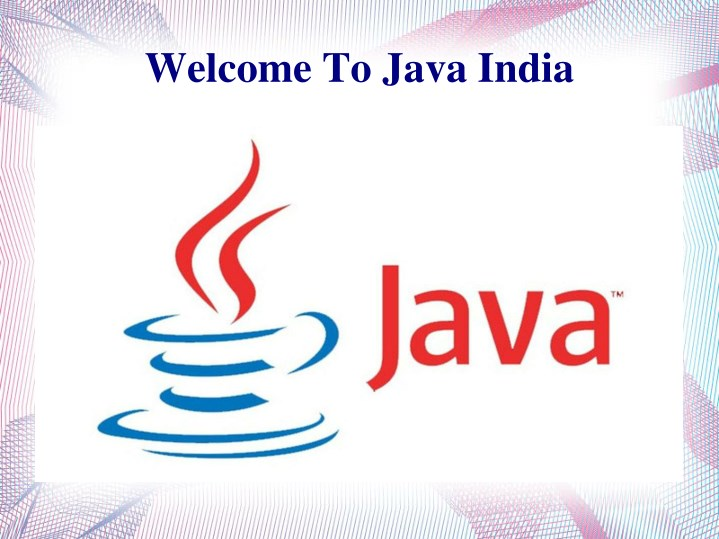 welcome to java india n.