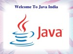 welcome to java india