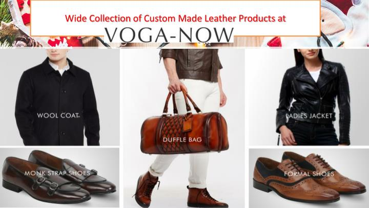 wide collection of custom made leather products at n.