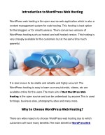introduction to wordpress web hosting