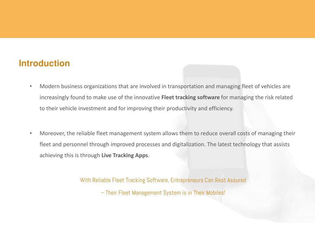 Transportation Tracking Software