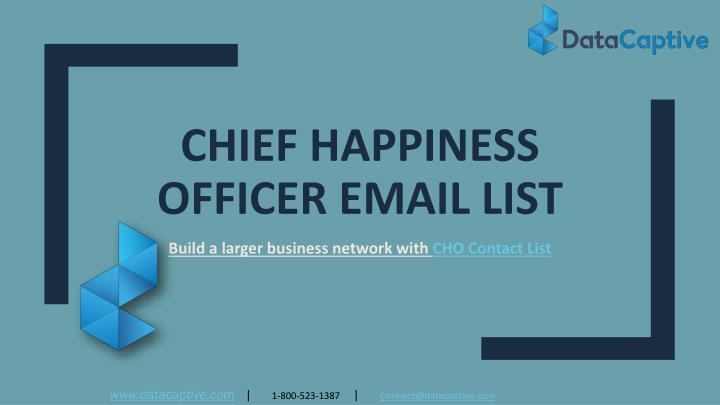 chief happiness officer email list n.