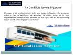 air condition service singapore