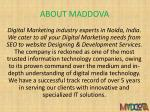 about maddova