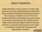 about maddova