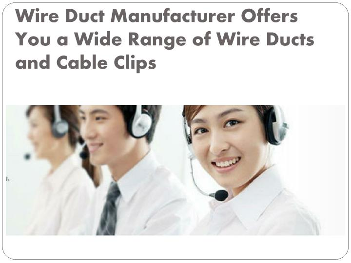wire duct manufacturer offers you a wide range of wire ducts and cable clips n.