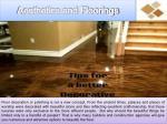 aesthetics and floorings