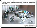 precious metals and diamond mining in zimbabwe