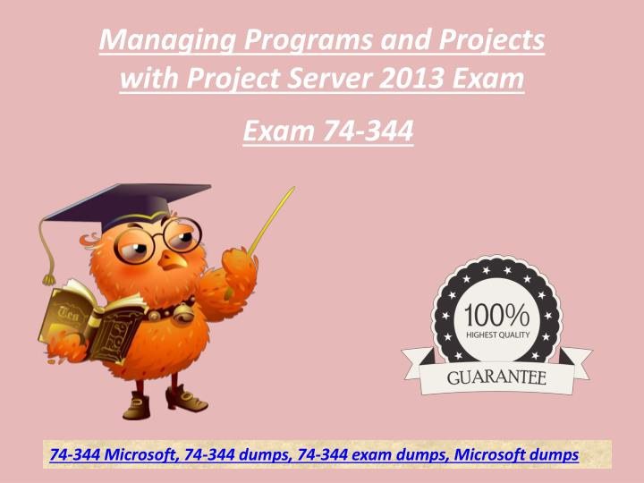 managing programs and projects with project n.