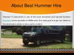 about best hummer hire
