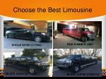 choose the best limousine