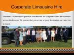 corporate limousine hire