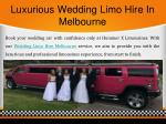 luxurious wedding limo hire in melbourne