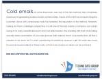 cold emails till some time back