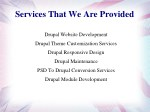 services that we are provided