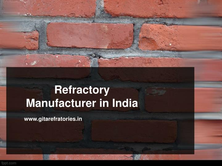 refractory manufacturer in india n.