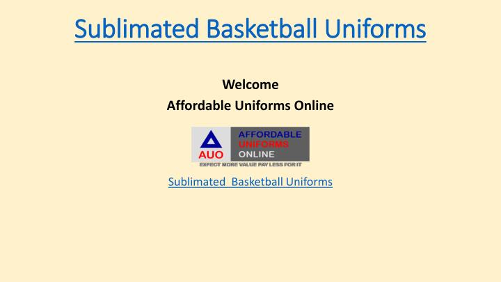 sublimated basketball uniforms n.