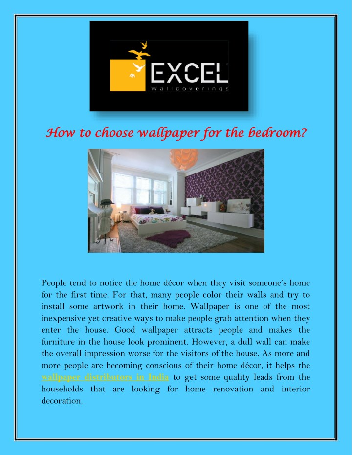how to choose wallpaper for the bedroom n.