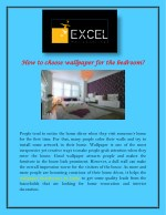how to choose wallpaper for the bedroom