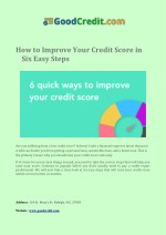 how to improve your credit score in six easy steps