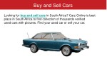 buy and sell cars