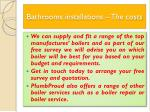 bathrooms installations the costs