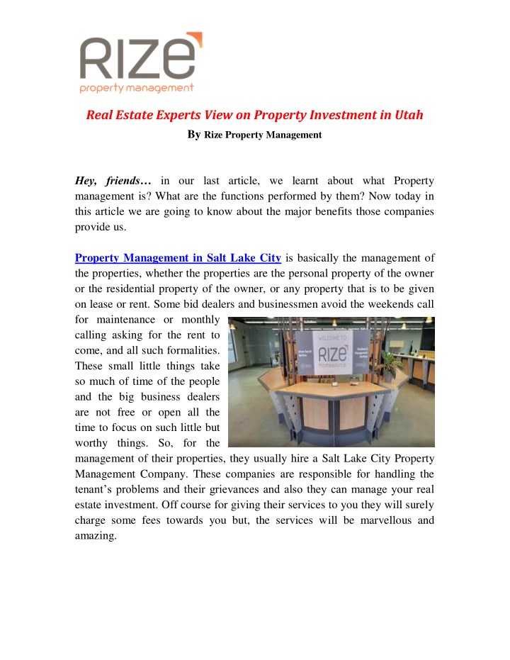 real estate experts view on property investment n.