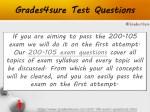 grades4sure test questions