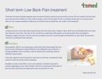 short term low back pain treatment