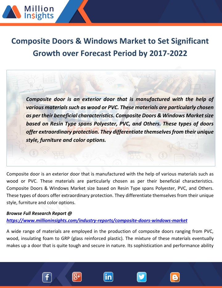 composite doors windows market to set significant n.